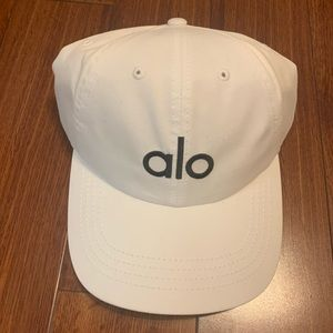 White Alo Yoga Baseball Hat | Dad Hat